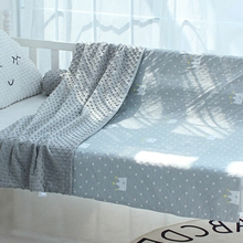 Blanket Duvet-Case Fabric Quilty-Cover Minky Bedding Cotton Cloth Dot Print Comfort Soft