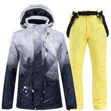 30 градусов женская зимняя одежда теплый костюм для сноуборда