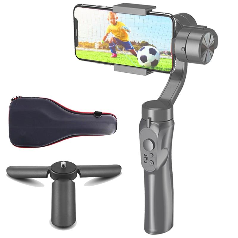 Orsda 3 eixos smartphone cardan câmera de foco portátil estabilizador estabilizador telefone celular gopro iphone11xs xr x 8 plus