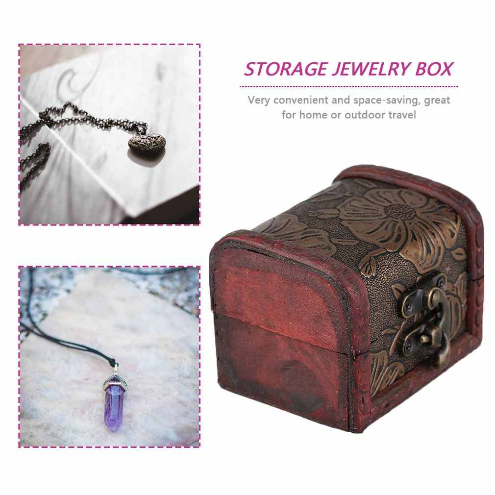 Vintage Design Personal Jewelry Packaging & Display Box Necklace Bracelet Rings  Organizer Wooden Storage Case Gift Box