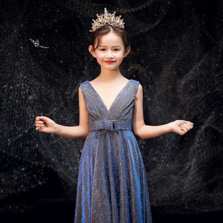 Piano Grading Test Formal Dress Girls Violin Playing Cello Performance Flute Model Catwalks Clothing Children High-End