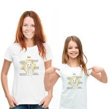 Leo созвездий для мамы и дочки короткий рукав с О образным вырезом