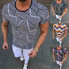 2021 Venta caliente Camiseta de manga corta floral para hombre Casual Slim Street Wear Old Style Summer