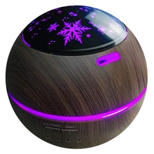 Aroma Essential Oil Diffuser, Ultra Silent Humidifier with 8 Colors Projector Lights, 150Ml, for Office / Home (EU Plug)