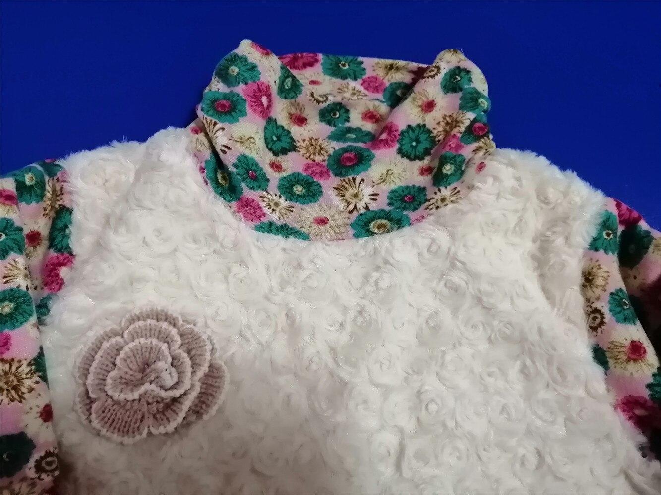 Детская одежда; зимняя водолазка для девочек; теплые футболки с флисовой подкладкой; детские лоскутные Футболки с имитацией ягненка; плотные футболки с принтом