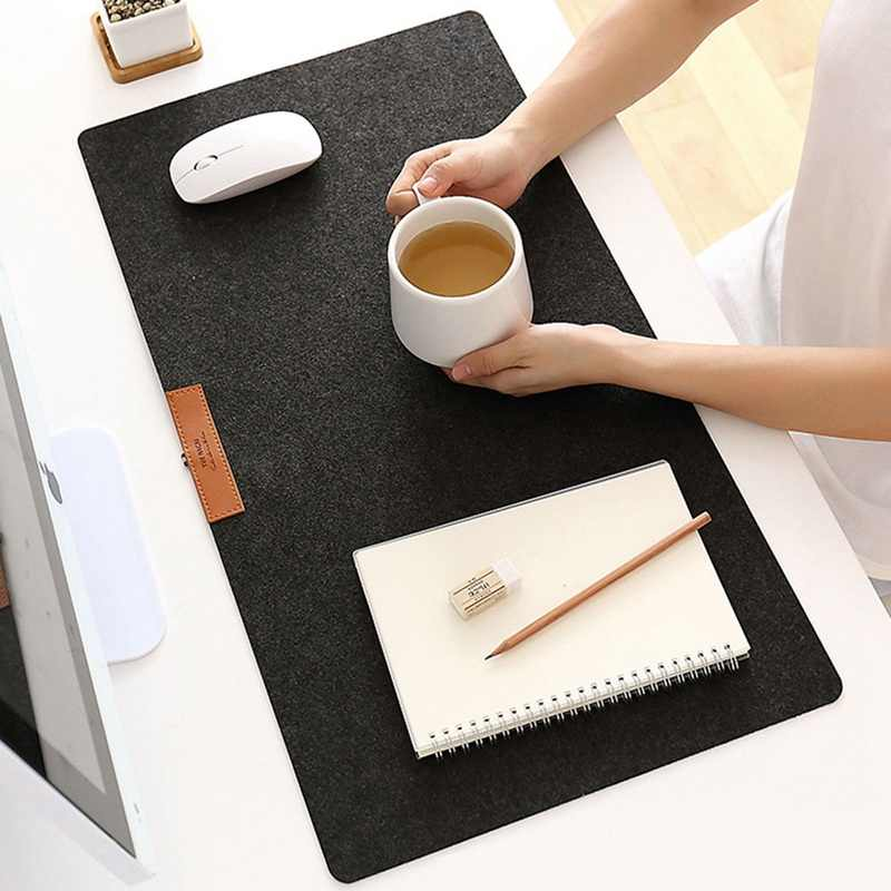 735*325mm grand bureau ordinateur bureau tapis de bureau moderne Table clavier tapis de souris antidérapant laine feutre ordinateur portable coussin bureau tapis Gamer tapis