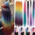Синтетические вязаные крючком косички AZQUEEN Омбре Сенегальские крученые волосы 24 дюйма 30 корней/упаковка плетеные волосы для женщин серый, с...