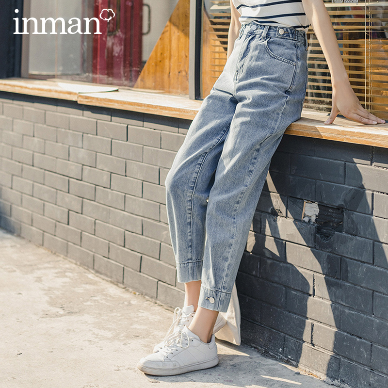 INMAN 2020 Summer New Arrival High Waist Fashion Personality Leisure Pencil Pant