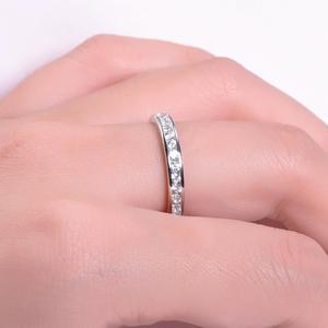 Image 2 - GEMS בלט 0.33Ct Luxe עתיק גלילה EF צבע Moissanite טבעת 925 סטרלינג כסף נישואים לתכשיטי נשים 2mm