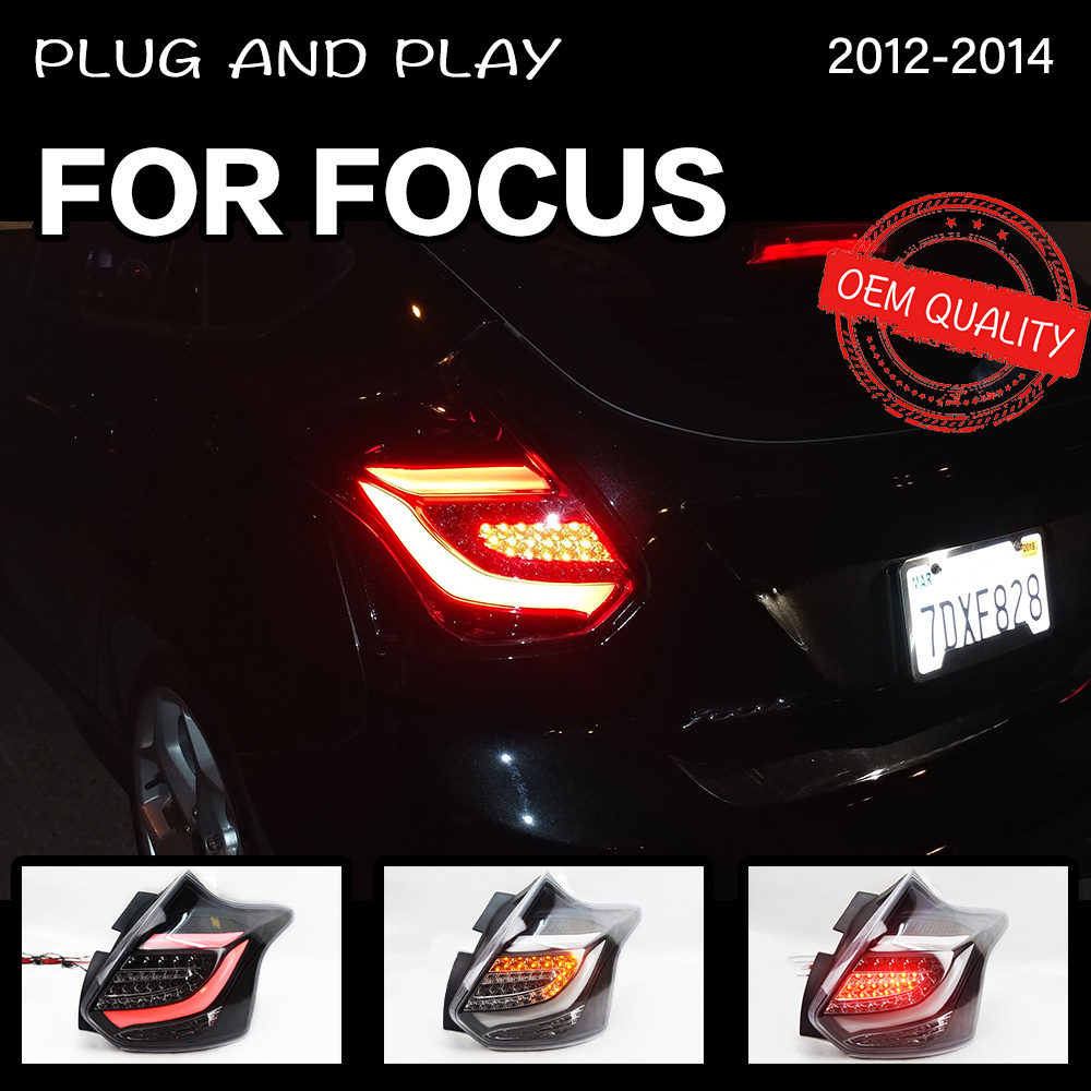 Car Styling tail light for <font><b>Ford</b></font> <font><b>Focus</b></font> ST 2 hatchback 2012-2014 <font><b>taillights</b></font> rear lamp LED Signall reversing parking lights image