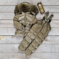 Children's Winter Clothing Sets Baby Girl Clothes Boys Down Jacket Toddler Parka Warm Snowsuit kids Big Natural Fur outwear  30