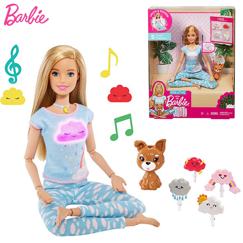 Joints Move Breathe with Me Doll Barbie with Clothes Toy for Children Accessories Brinquedo Dolls for Girls Juguetes Gymnastics