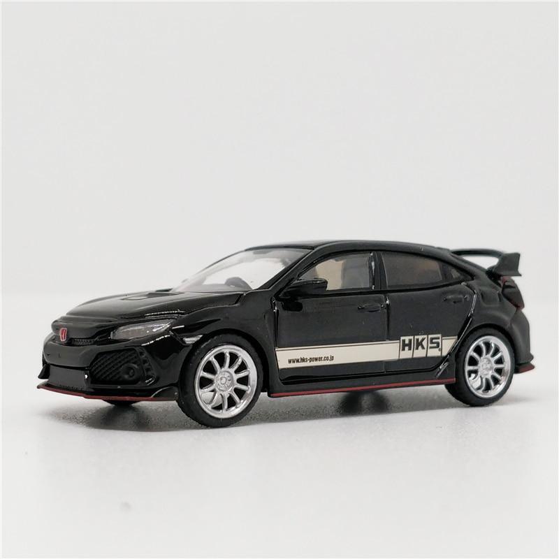 1:64 MINI GT Honda Civic Type R HKS Black RHD Diecast Model Car