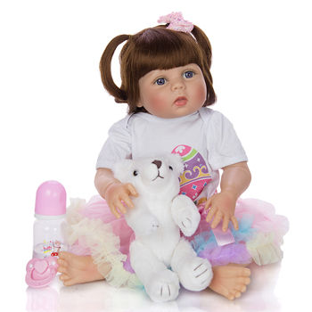 Lovely 23 Inch bebe Reborn Dolls Full Body Silicone Vinyl Realistic  Reborn baby Dolls princess Girl  Kids Birthday Gift