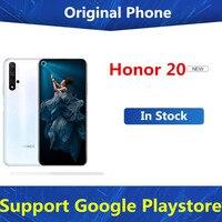 Original Honor 20 4G LTE móvil teléfono 48.0MP + 16.0MP + 2.0MP + 2.0MP + 32.0MP Kirin 980 de 6,26