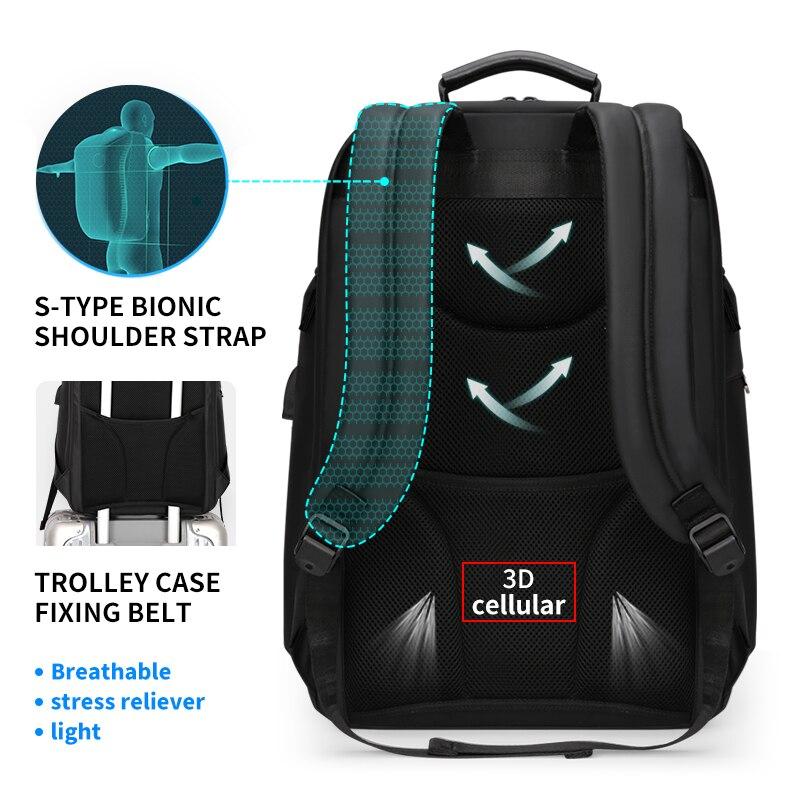 Mark Ryden мужской рюкзак подходит для 17 дюймов ноутбука USB зарядка многослойная космическая дорожная сумка бизнес мужская Противоугонная сумк... - 5