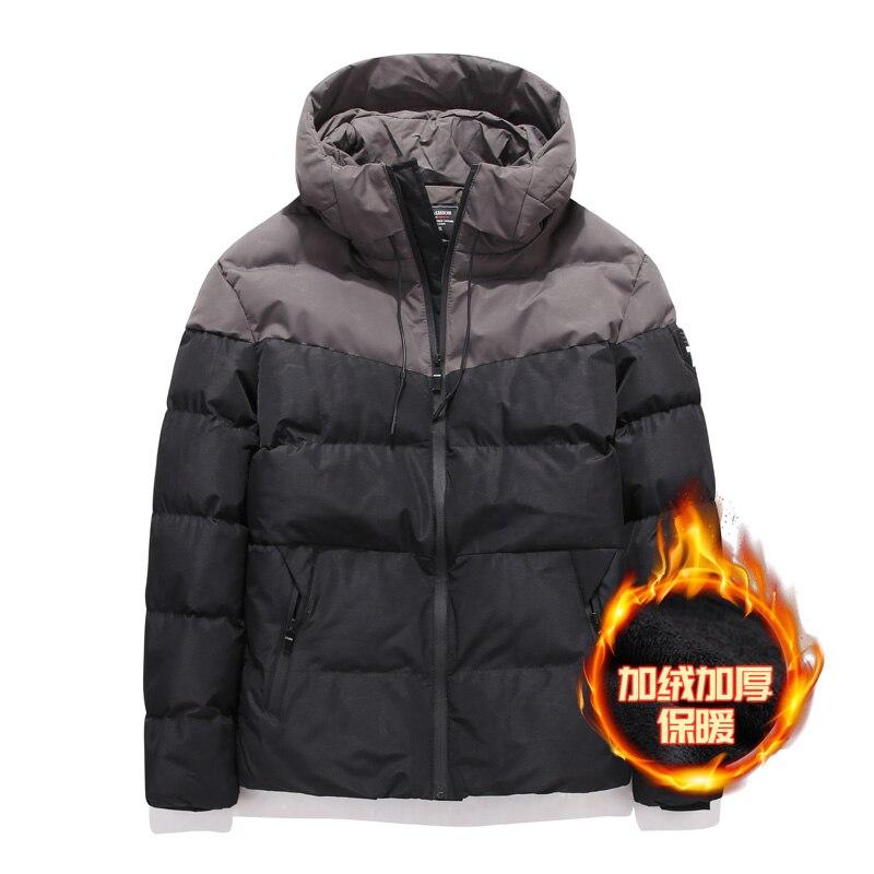 Winter Mens Hooded Parkas Fashion Zipper Warm Cotton Coats Men Parka 8XL Warm Thick Jackets Padded Coat Male Streetwear Jacket