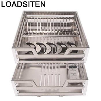 Organizator i przechowywanie Cestas Corredera Despensa Gabinete Organizer ze stali nierdzewnej Cozinha kuchnia szafka kuchenna kosz tanie i dobre opinie LOADSITEN CN (pochodzenie) Metal