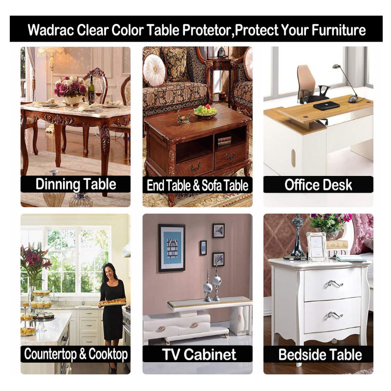Clear Plastic Table Protector PVC Tablecloth Furniture Protective Desktop Cover