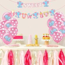 QIFU Its a Girl Boy Banner Balloon Baby Shower Decor Christening Decoration Birthday Party Baptism Babyshower