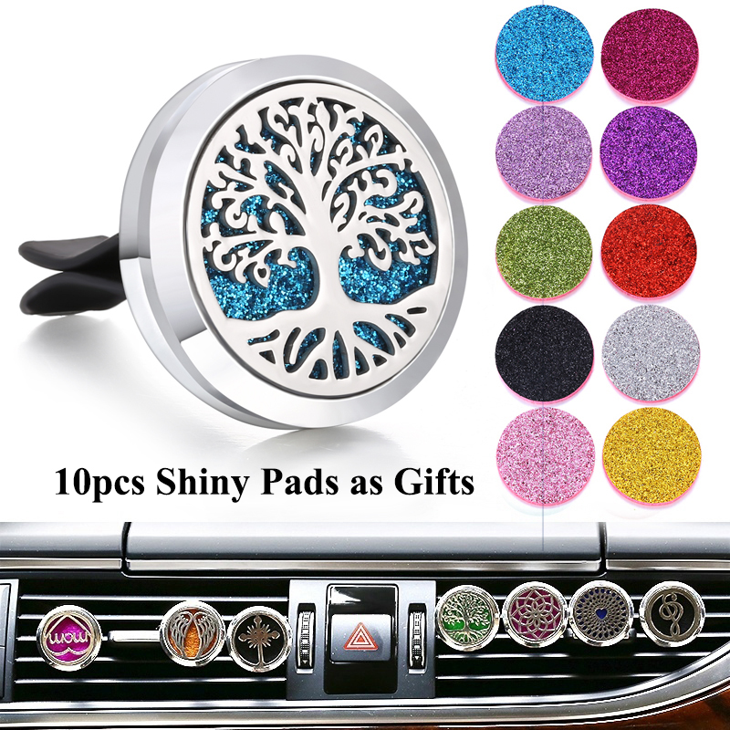 Árvore da vida carro purificadores de ar clipe difusor de óleo essencial para carro decoração automóvel aromaterapia respiradouro dropshipping