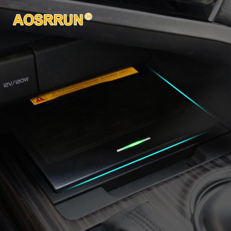 Car Wireless Mobile Phone Quick Charger, Storage Box Wireless Charging Board QI Cover For Toyota Camry 8th 2018 2019 Generation