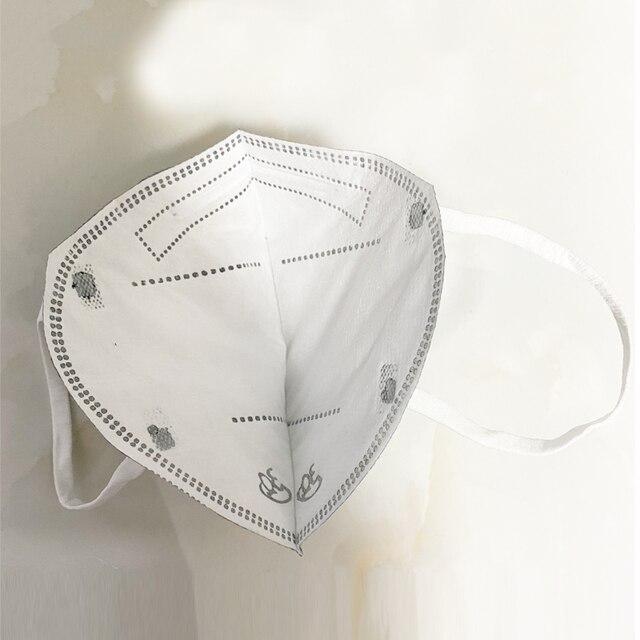 Mouth Mask Viscose Cute PM2.5 Anti Haze Black Dust Mask Nose Filter Windproof Face Muffle Bacteria Flu Fabric Cloth Respirator 1