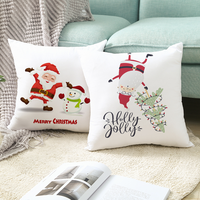 FENGRISE Merry Christmas Decor For Home Santa Claus Elk Pillowcase Christmas Ornament 2019 Navidad Xmas Gift Happy New Year 2020 5