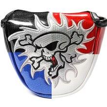 Siranlive Golf Multi farben Schädel Kopf Abdeckung Putter Abdeckung mit Magnet Verschluss Golf Headcover Kostenloser Versand