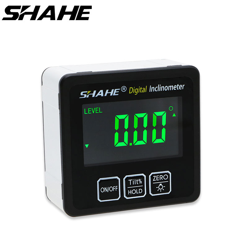 SHAHE Цифровой Угол Finder линейка транспортира метр алюминиевый сплав электронный уровень 360 градусов конический ящик измерительные инструмен...