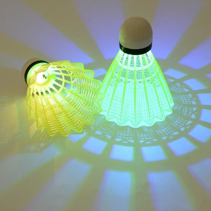 4pcs/set Lighting Badminton Dark Night Colorful LED Lighting Sport Badminton Light Spot Shuttle Cock