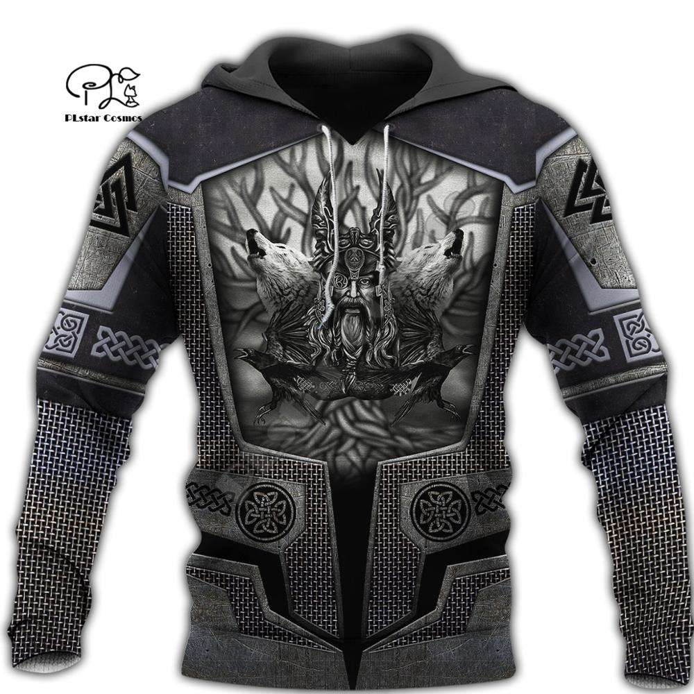 PLstar Cosmos Viking Warrior Tattoo Armor New Fashion Tracksuit Funny 3DPrint Pullover Unisex Zip/Hoodies/Sweatshirts/Jacket S15