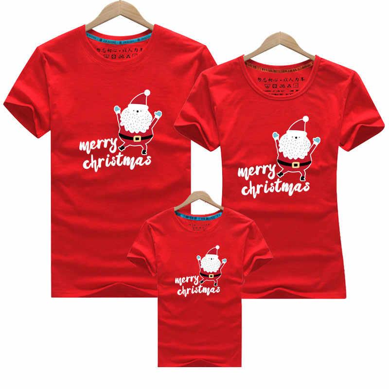 Família olhar para pai mãe e mim 2020 pai mãe filha filho, natal, ano novo, algodão, roupas, família, combinando roupas