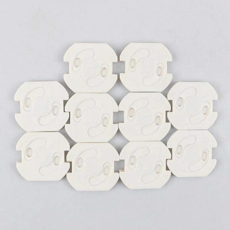 100pcs/lot  Baby Safety White ABS Baby Safety Plug Socket Protective Cover Protective Insulation Against Electric Shock
