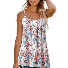 Женская летняя жилетка без рукавов с принтом, блузка, топы, майки, одежда, топ, женская уличная одежда, Топ для женщин, haut femme haut femm