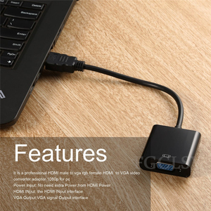 Image 5 - FGCLSY HDMI to VGA Adapter Converter Male To Famale 1080P Digital to Analog Video Audio Adaptor for PC Laptop Tablet to TV