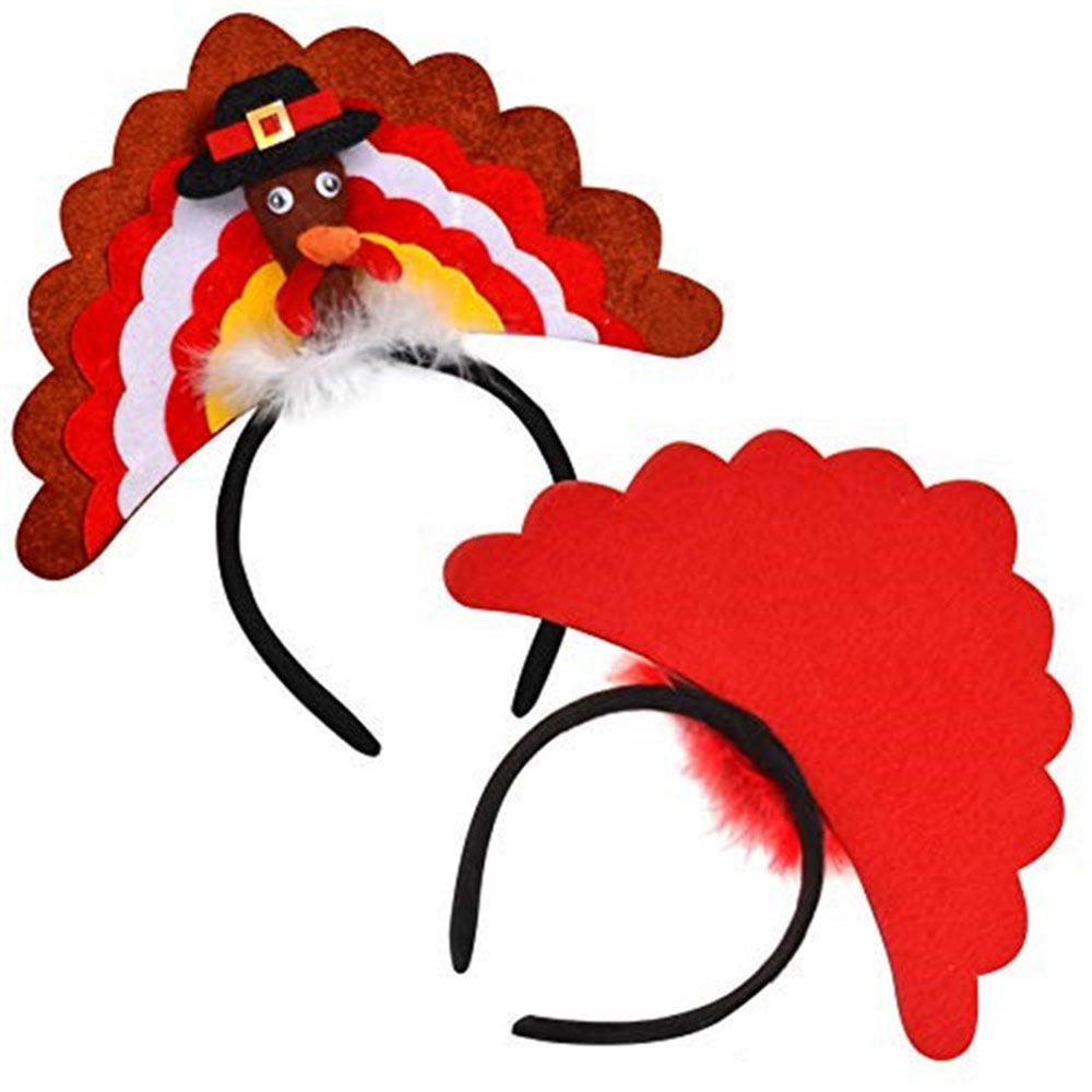 Cartoon Headwear Thanksgiving Decoration Hat Festival Accessories Turkey Costume Headband Funny Party Decoration