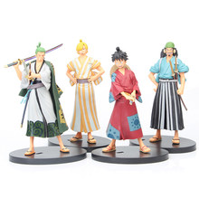 18 Cm One Piece De Grandline Mannen Roronoa Zoro Vinsmoke Sanji Land Van Wano Land Ver. Action Figure Pvc Collection Model Speelgoed