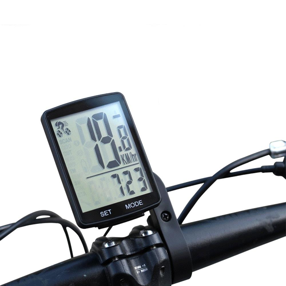 Çok fonksiyonlu LCD ekran bisiklet bilgisayar kablosuz bisiklet yağmur geçirmez kilometre kilometre sayacı bisiklet 2.8 inç su geçirmez title=