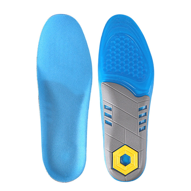 Tpe Sports Insoles For Shoes Men Women Breathable Sweat Shock Absorption Non-slip Foot Massage Insoles Shoe Inserts Pad Cushion