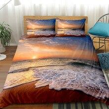 HM Life Набор пододеяльников 3 шт. Большая печать закат пляж кокосовое дерево 8 цветов покрывало на кровать одежда текстильные постельные принадлежности для дома набор