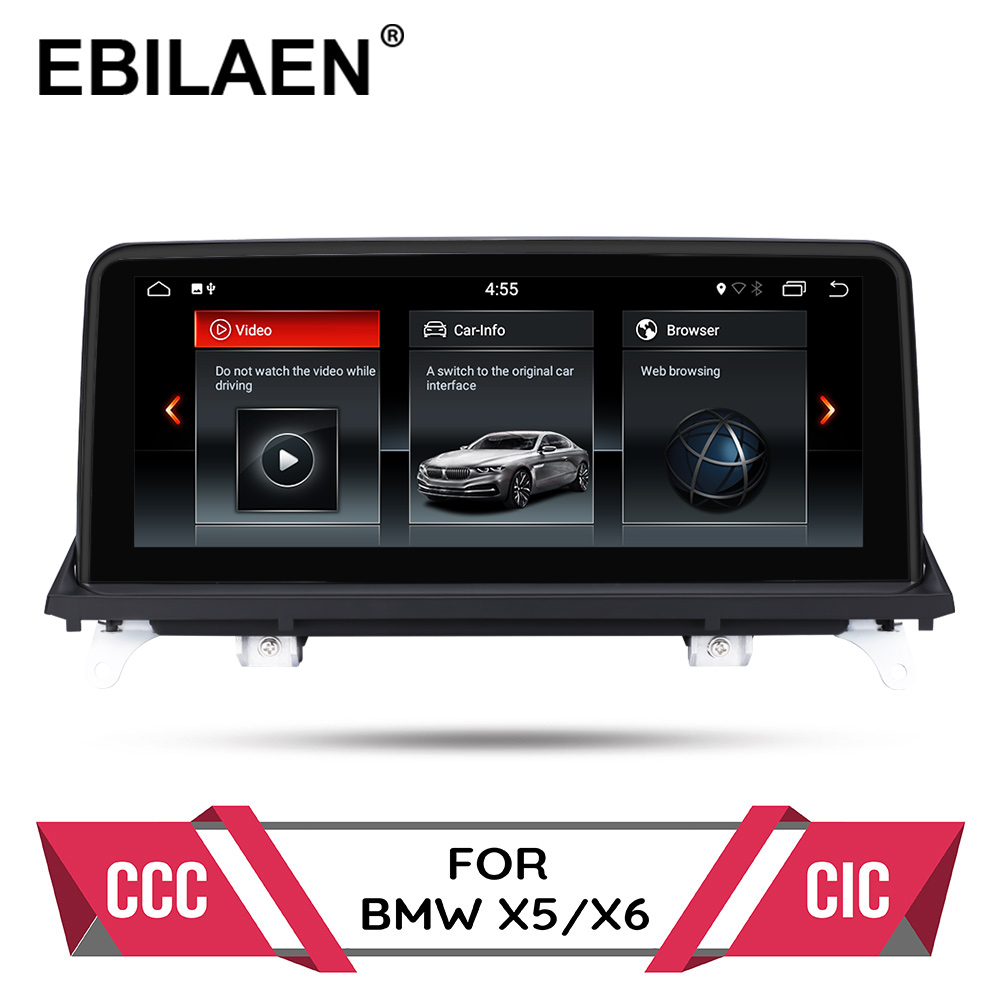 Android 9.0 car dvd player for <font><b>BMW</b></font> <font><b>X5</b></font> <font><b>E70</b></font>/X6 E71 (2007-2013) CCC/CIC system autoradio gps navigation multimedia head unit PC image