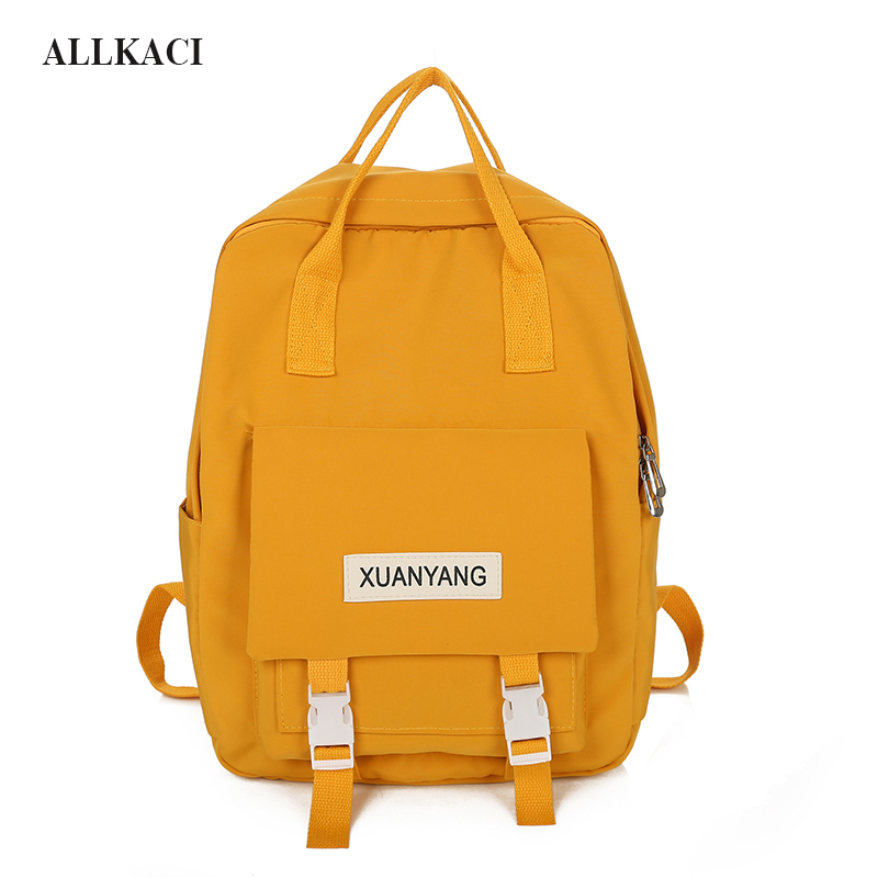 Fashion New Women Nylon Backpack Teenager Cute Students School Bags Girls Satchel Boys Large Capacity Travel Rucksack Bookbag 50