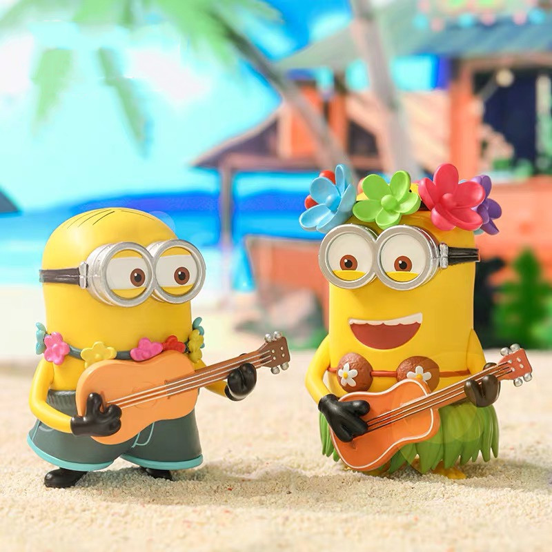 Blind Box POPMART Bubble Mart Minion Vacation Series Cute Doll Hand-made Decoration Genuine