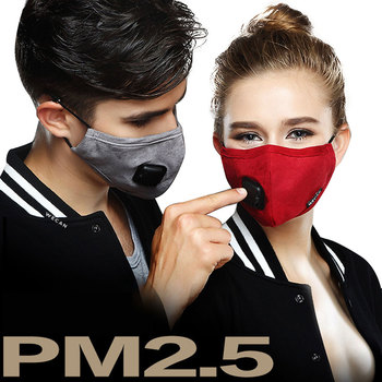 PM2.5 Mask Cotton Face shield Activated Carbon Filter-Washable Double Valve US