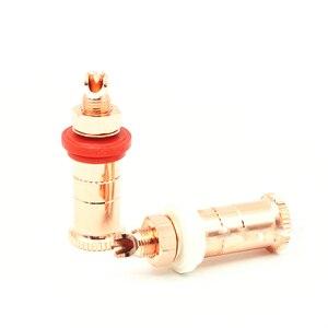 Image 3 - Hifi haut parleur prise cuivre hifi haut parleur connecteur amplificateur borne de liaison poste banane prise connecteur