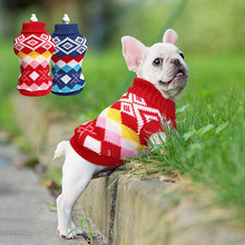 Classics Plaid perro suéter invierno perros ropa suave perro gato suéter tejido ropa para mascotas para gatos pequeños perros medianos Chihuahua pug