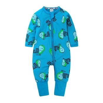 2020 Baby Boys Girls Clothes Cartoon Print Cotton Jumpsuits Unisex Toddler Infant Kids Rompers Newborn Baby Sleepwear MBR24 1