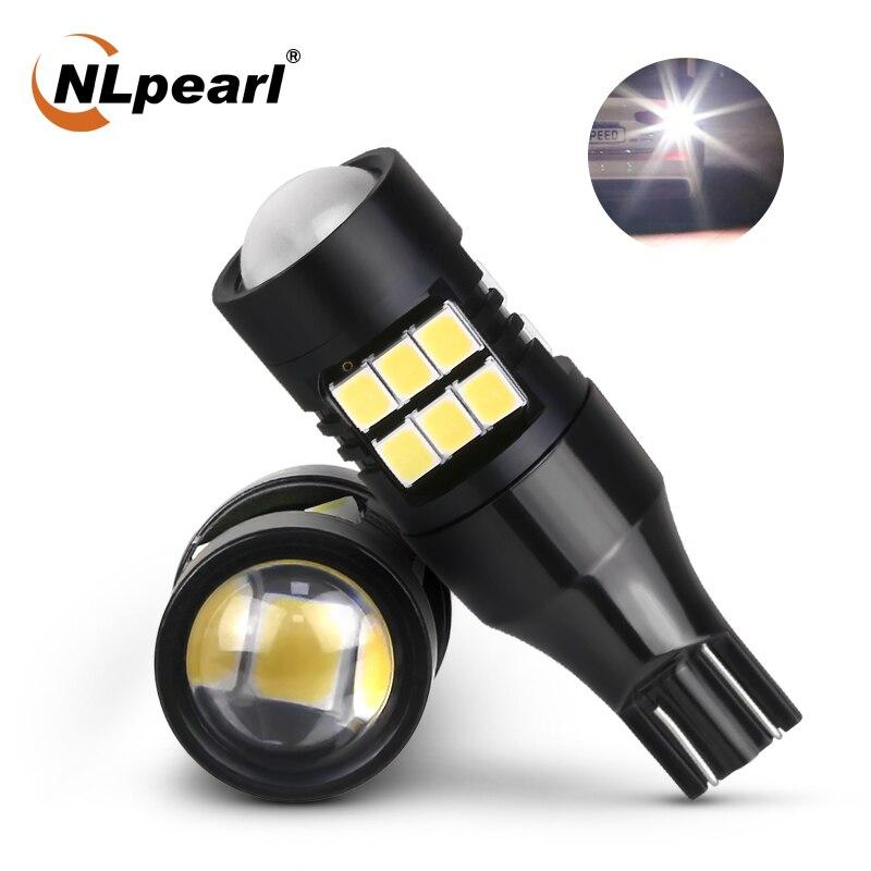 NLpearl 1x сигнальная лампа W16W T15 светодиодный Canbus лампы 12V T15 W16W светодиодный супер яркий 2835 21SMD заднего хода автомобиля светильник Резервное коп...