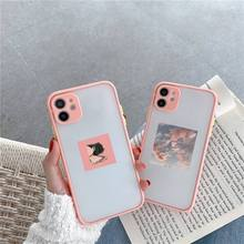 Flower Summer Pink sky Phone Case Matte Transparent for iPhone 7 8 11 12 s mini pro X XS XR MAX Plus cover funda